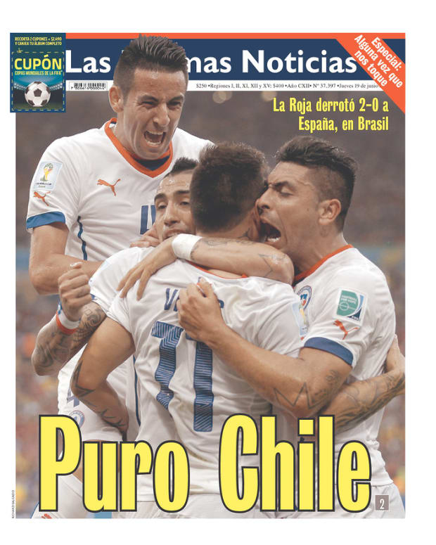 Pure Chile, reads Las Ultimas Noticias (Santiago, Chile)