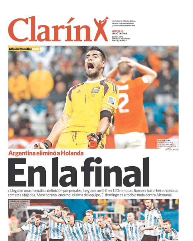 In the final, reads Clarin (Argentina)