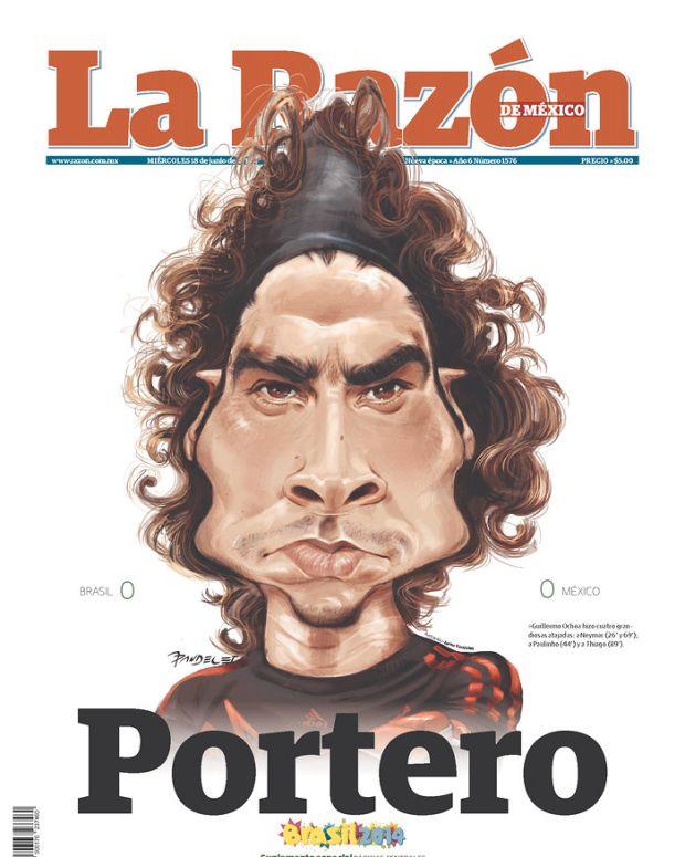 """Goalie,"" reads La Razon de Mexico (Mexico City, Mexico)"