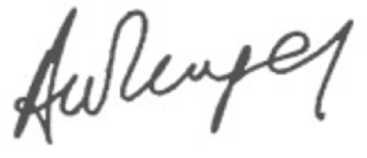 Arsene Wenger's signature