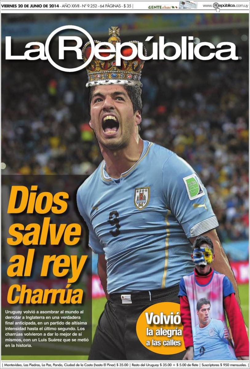 God Save the King, reads La Republica (Uruguay).