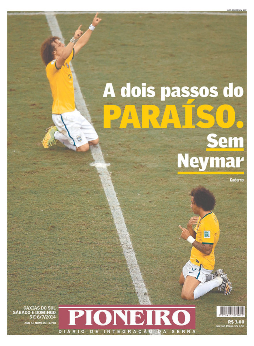 Two Steps From Paradise. Without Neymar, reads Pioneiro (Caxias do Sul, Brazil)