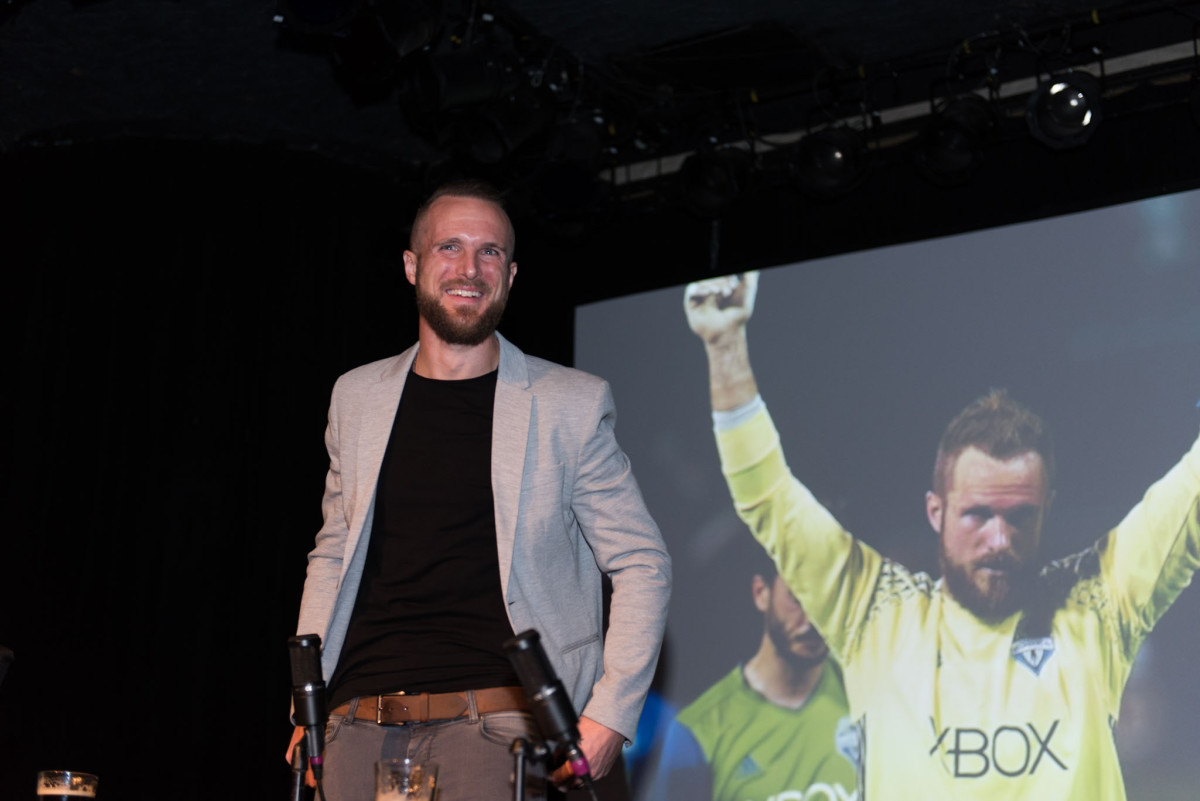 MLS Champion and Sounders goalie Stefan Frei