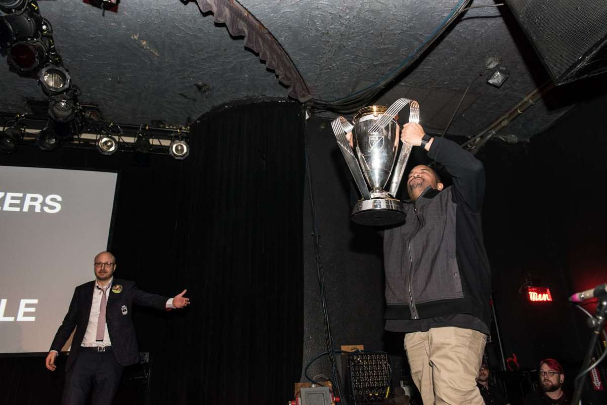 Sir-Mix-A-Lot with MLS Cup