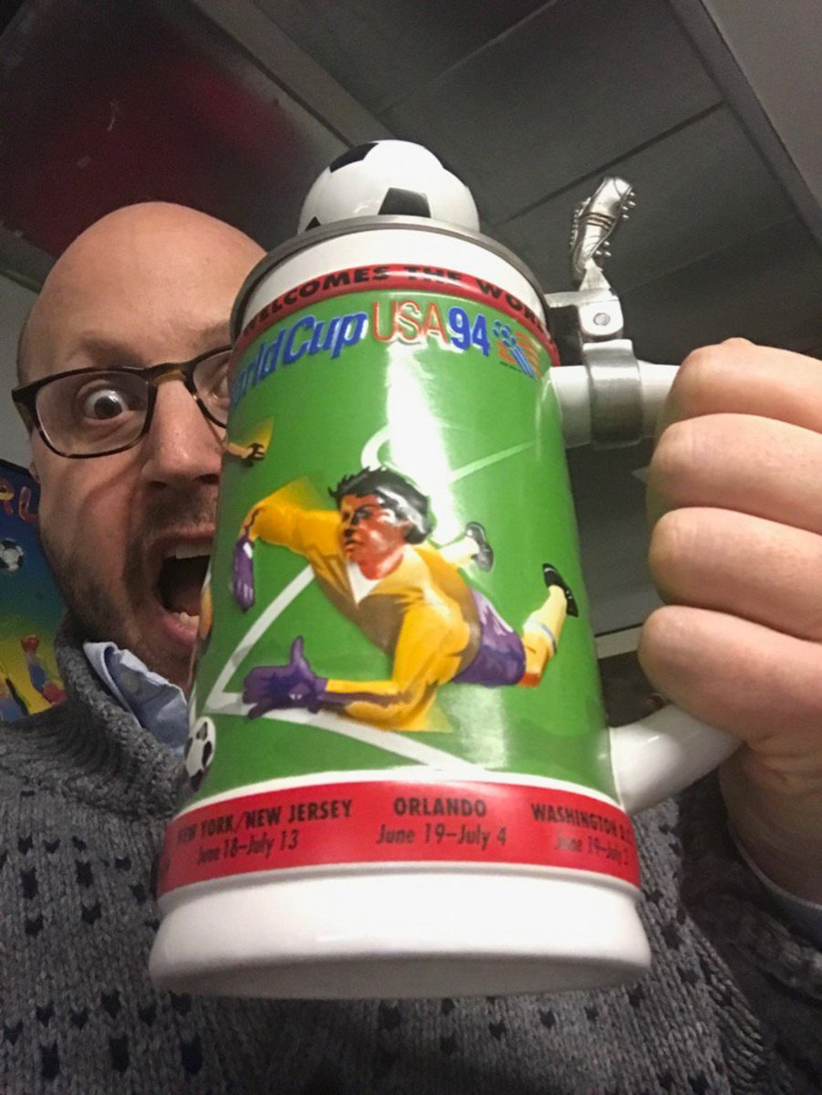 A 1994 World Cup USA Anheuser-Busch Stein, provided by GFOP Justin Ridge
