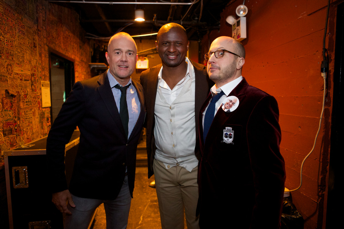 Backstage with footballing legend Patrick Vieira
