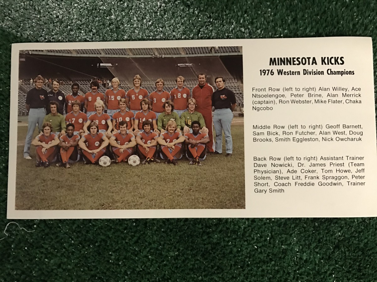 1976 Minnesota Kicks team photo, via GFOP Kelly Casey
