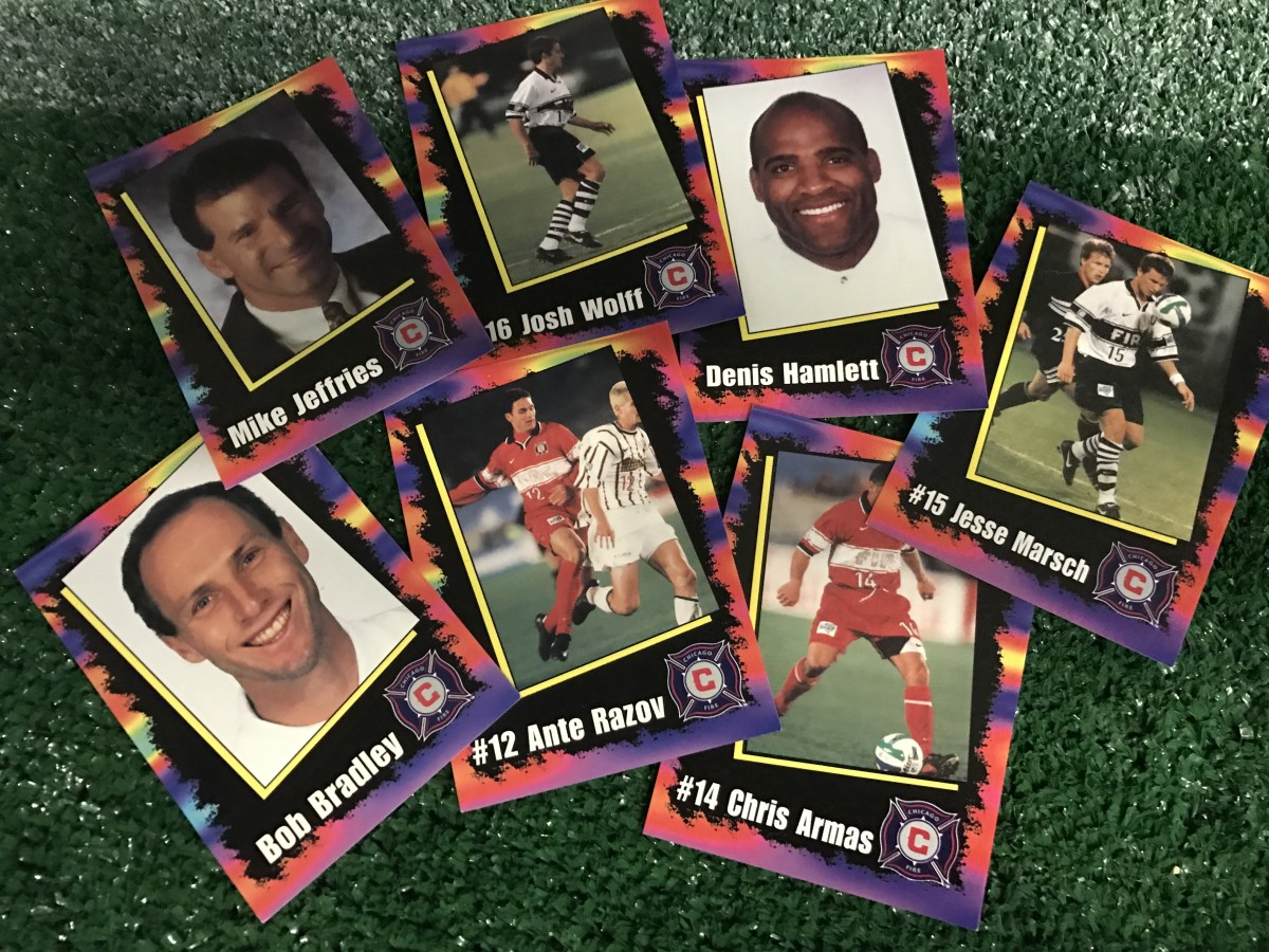 1998 Chicago Fire trading cards, via GFOP Joe Wejman