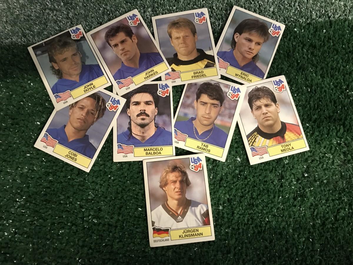 1994 USMNT trading cards with bonus Jurgen Klinsmann, via GFOP Zhelez