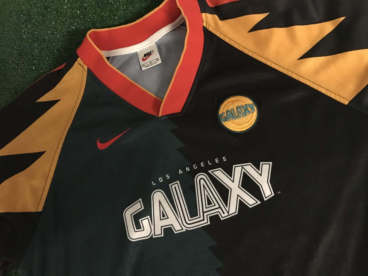 Original LA Galaxy jersey circa 1996, via GFOP Mike DeFrancia