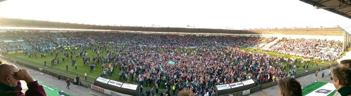Simon's view from Plymouth's Directors' Box after PAFC defeated Portsmouth to make last year's League Two Playoff at Wembley.